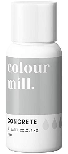 Colour Mill Oil-Based Food Coloring, 20 Milliliters Concrete