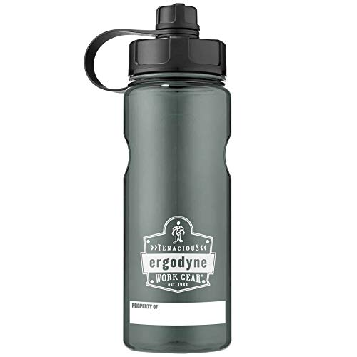 Wide Mouth Water Bottle, 34 oz, BPA Free, Fits in Car Cup Holders, Ergodyne Chill Its 5151