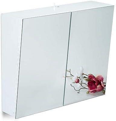 Relaxdays Zweituriger Spiegelschrank Bad Hangeschrank