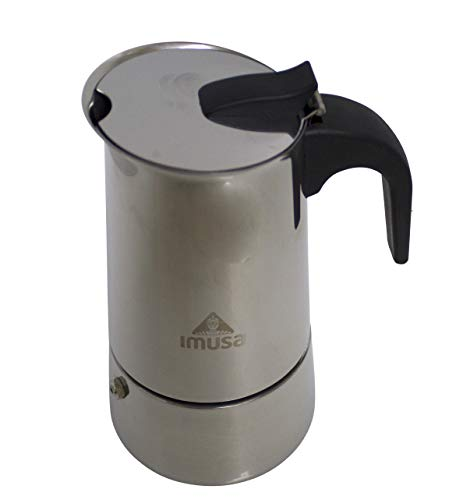 IMUSA USA B120-22062M Stainless Steel Stovetop Espresso Coffeemaker 6-Cup, Silver