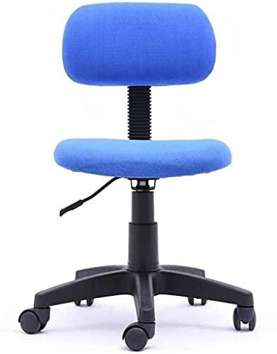 FGVBC Tiua Taburete Silla de Oficina Elevador hidráulico Silla de Escritura para el hogar para niños Silla de Trabajo giratoria con Respaldo (Rojo, Azul) (Color: Azul)