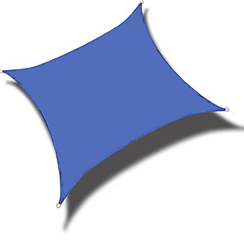 QINZC Toldo Vela De Sombra Cuadrado 2x2m Toldos Impermeables Exterior Toldo Vela Parasol 90% Resistente UV Transpirable Resistente para JardíN Patio Terraza BalcóN Exteriores,Azul