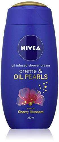 Nivea Oil Infused Shower Cream, Creme & Oil Pearls (250 ml), Moisturising Shower Gel with Cherry Blossom Scent, Luxurious Body Wash for Women, Body Wash with Argan Oil, Pack of 6