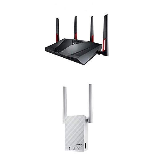 Routeur ASUS RT-AC88U AC3200 + Répéteur AI Mesh ASUS RP-AC55 AC1200 - Couverture Wi-FI 245 m²