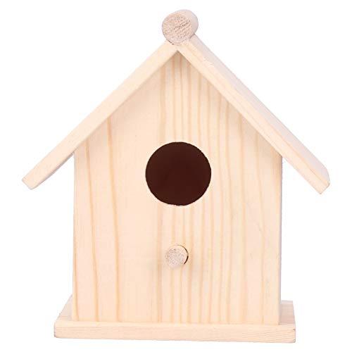 Mxzzand Nidi di Uccelli Mangiatoia per Uccelli Durevole Casetta per Uccelli in Legno Bella casetta per Uccelli Resistenza all'umidità Ornamento Decorativo