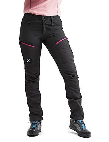 RevolutionRace Damen RVRC GP Pro Pants, Hose zum Wandern und für viele Outdoor-Aktivitäten, Grey/Pink, 40