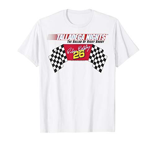 Talladega Nights Ricky Bobby Racing Logo Flag T-Shirt