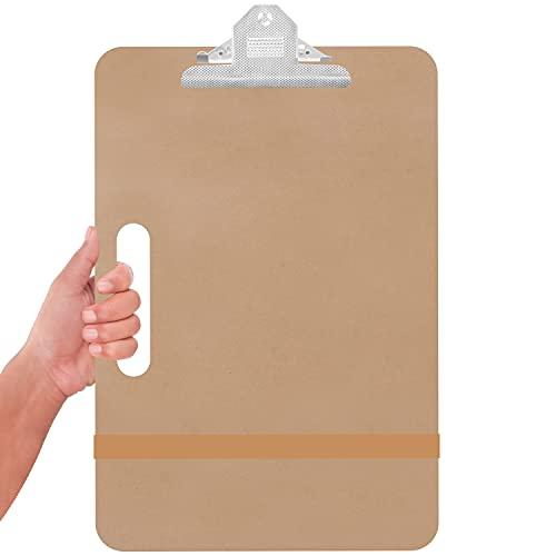 Kurtzy Planche à Dessin d'Artiste - 28 x 43 cm - Planche a Dessin Portable en Bois Solide avec Poignée et Pince À Dessin - Peinture, Croquis et Dessin - Studio, Classe d'École et Bureau
