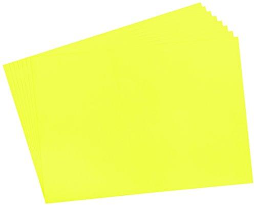 Herlitz 235044 Plakatkarton 48 x 68 cm, 10 Stück, leuchtgelb