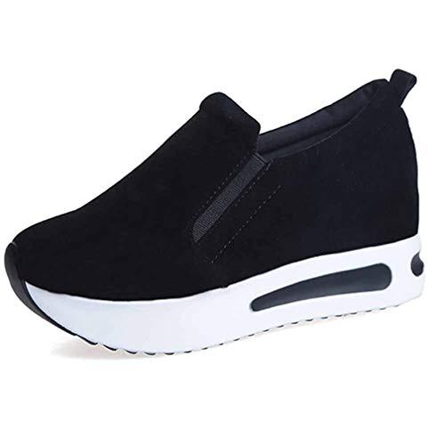 Dames Gevulkaniseerde Schoenen Casual Wedge Platform Sneakers Lente Zomer Verhoogde Interne Instappers Suède Casual Wandelen Dikke Sneakers