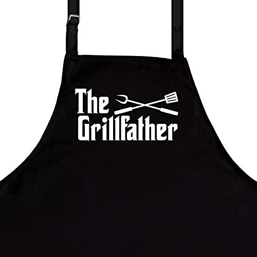 StarGifts Tabliers drôles pour Homme | Parent | Taille s'adapte à Tous | Tablier de Cuisine de qualité supérieure pour Homme | Accessoires de Barbecue idéaux The Grillfather