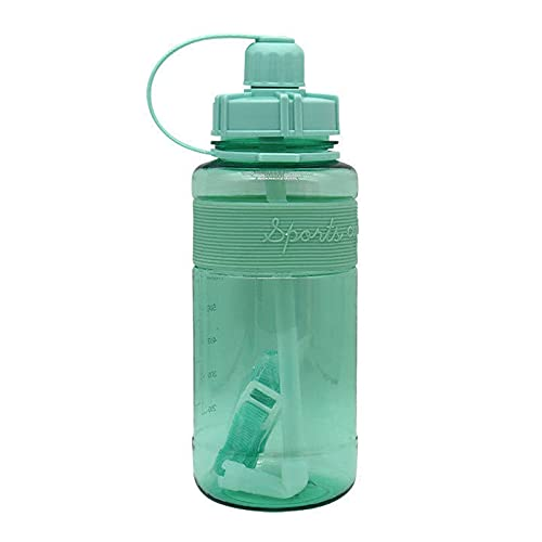 GAOYUAN Vaso de Agua de Plástico de Gran Capacidad de 1000ML Botella de Agua de Silicona para Deportes Al Aire Libre con Copa de Plástico con Correa para Fitness Gimnasio Camping Y