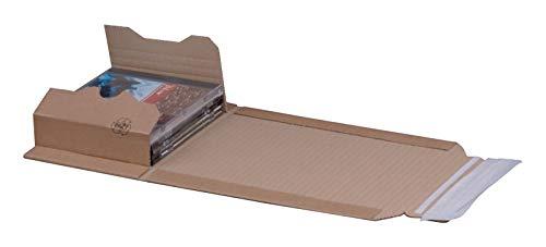 KK Verpackungen® Höhenvariable Versandverpackung für Büchersendungen | 25 Stück, CD, 147x129x55mm | Buchverpackung, Wickelverpackung mit Selbstklebeverschluss & Aufreißfaden