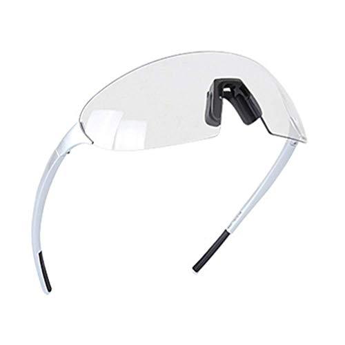 Moda Antideslumbrantes,Ciclismo Sin Montura Gafas De Sol,Correr Ciclismo Vintage Deportivas Pesca Gafas De Sol Deportivas,Degradado Mujer Hombre Gafas-Plata 17cm(7inch)