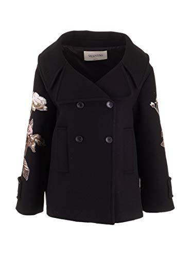 Valentino Luxury Fashion Damen SB0CJ1904G8K92 Schwarz Mantel   Herbst Winter 19