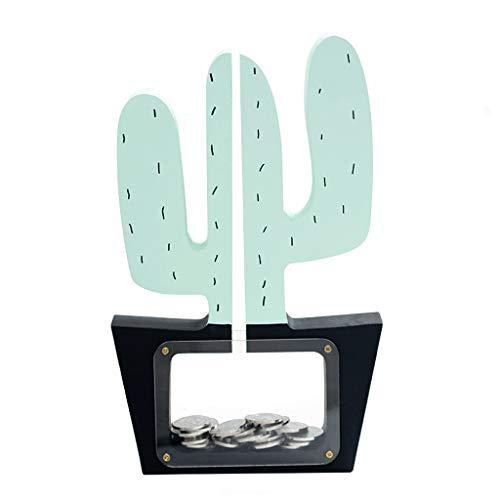 ZWMG Hucha Alcancía con Forma de Cactus, Caja de Monedas, la Mejor opción for Navidad/Año Nuevo/cumpleaños/estreno de una casa Decoración hogareña