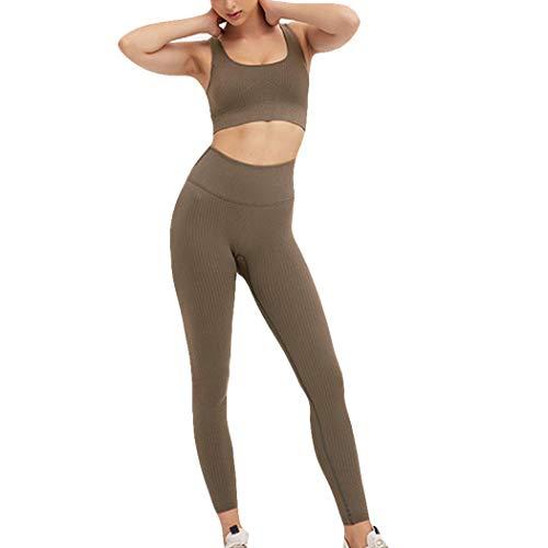 Azastar dames sportpak joggingpak sport sets top + broek 2 stuks kledingset yoga outfit vrijetijdspak