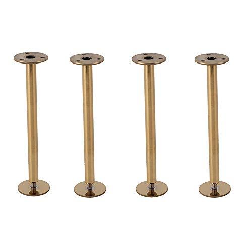 Preisvergleich Produktbild ZHAS Möbelbeine 4-teilig,  europäische Edelstahl-Standfüße,  Badezimmerschutzfüße,  TV-Schrank- / Tischbeine (150 / 200mm) -Gold