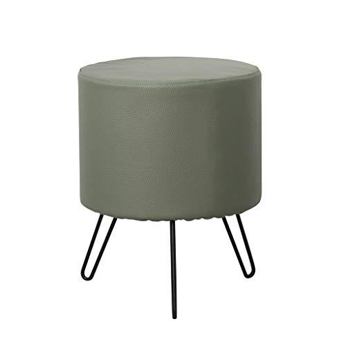 stool Sofá hogar algodón y lino simple creativo dormitorio salón comedor banco perezoso sillas (color verde)