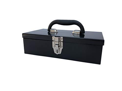 Workington Portable Carpenter Metal Tool Box with Latch, Small Parts Box, Sockets Storage Box Organizer 4002