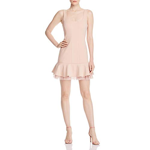 BCBG Max Azria Womens Knit Evening Cocktail Dress Pink 12