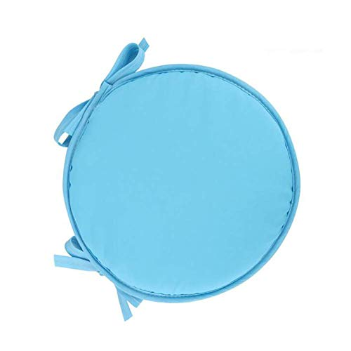 N / A 2pcs Cushion Bar Stool Solid Color, Thick Sponge Soft Comfortable Pad In Chair of Dinner, Washable Durable Stool Pad withrple Links Diam¨¨tre30cm (12inch),Light Blue,diam¨¨.