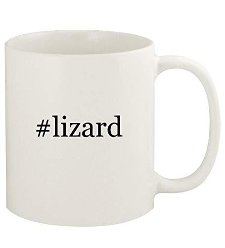 #lizard - 11oz Hashtag Ceramic White Coffee Mug Cup, White
