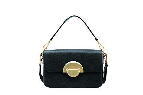 Bogner Damen Paula Shoulder Bag (Flap), Black, 26x15,5x9