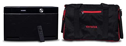 Aiwa Exos-9 Bündeln, Bluetooth Lautsprecher, Reisetasche it Infarot Fernbedienung, 200 Watt tragbarer Party Speaker, Schwarz