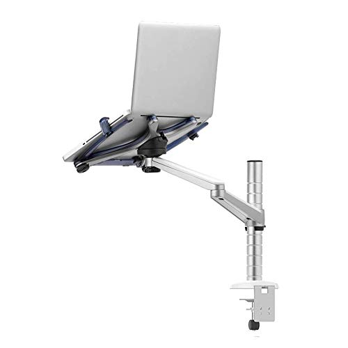 JDH Laptop Projector Mount Stand, Height Angle Adjustable Single Arm Radiator Holder Rack, Support 10-15.6 inch Laptops, for Home Office Table