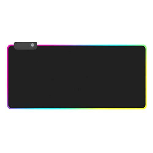 RGB muismat Geavanceerde muismat met LED extra grote lichtgevende geavanceerde verlichte toetsenborden Verdikkkkere kleurrijke computergames muismat muizenmat