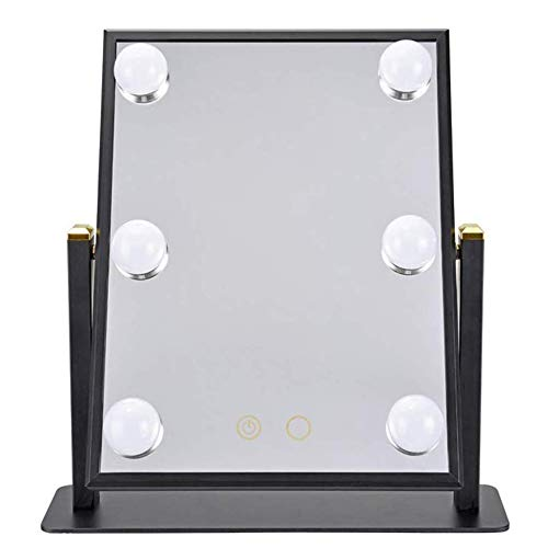 SMX Verlichte make-up spiegel met LED-verlichting for de make-up kaptafel Set, Desktop Mirror Grote HD Vanity spiegel met Desktop Mirror LED Spiegel