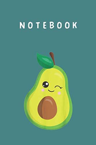 Notebook: Avocado Costume Vegan Winking Cute Avocado Girls Kids Gift Profesional Cover...