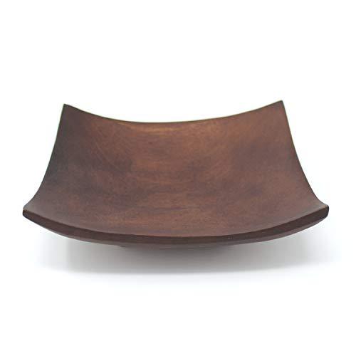 Trendy Wood & Light Quadrat braun Holzschale Dekoschale Holz Schale Deko Geschenk (braun)