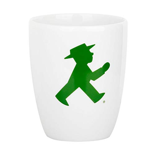Ampelmann Wachmacher Tasse weiß mit Geher ca. 250 ml, Kaffeetasse Kaffeepott Tasse Cappuccino