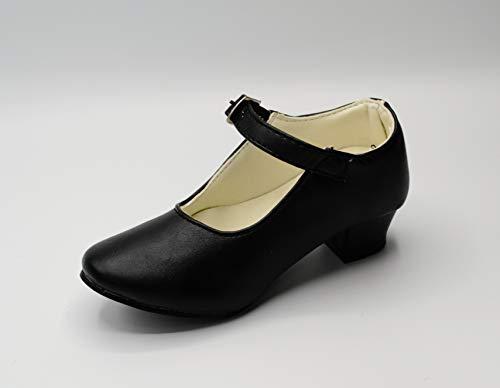 Costumizate! Zapatos de Baile Flamenco con Diferentes Tallas Desde niña a Mujer. Precioso Color Negro Talla 41