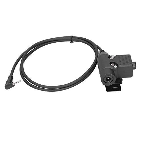 Cable adaptador de auriculares U94 PTT Walkie Talkie para T5428 / 6200C, conector Walkie Talkie de 1 m / 3,3 pies, transferencia de auriculares para auriculares Walkie-talkie, pulsar para hablar