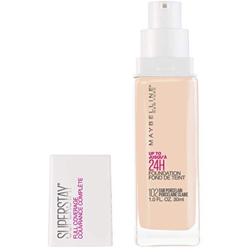 Maybelline Super Stay Full Coverage Liquid Foundation Makeup, Fair Porcelain, 1 fl. oz.
