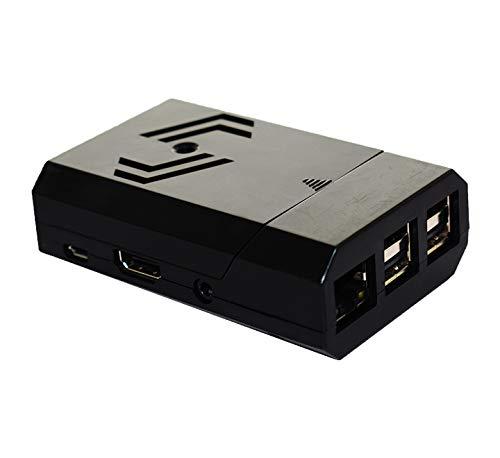 PiShell Case Schutzhülle für Raspberry Pi 3 B+ und Kamera, Raspberry Pi Case Cover - Schwarz