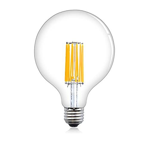 Klarlight 12W G125 E27 LED Globo Lampadina, Dimmerabile Bianco Caldo 2700K 125mm, E27 LED Filamento Lampadina Globo, 120W Globo Lampadina Alogena Equivalente