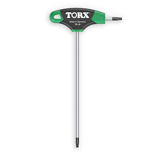 Destornillador TORX® 70501 T15 2K con mango en T | Made in Germany | Juego de llaves Torx | TX | para tornillos TORX