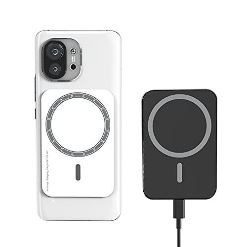 TiToK 15W Cargador Inalámbrico Coche Magnético,Soporte de Carga Rápida para Coche MagSafe-Compatible con Huawei Samsung Xiaomi LG iPhone (Excepto la Serie iPhone 12) Soporte para Coche Air Vent,Negro