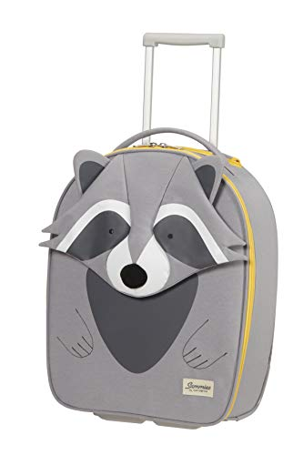 Samsonite Happy Sammies Eco - Upright XS Kindergepäck, 45 cm, 23 L, Grau (Raccoon Remy)