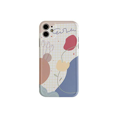 Funda suave para iPhone 11 Pro Max Precision Hole Ins Geométrico Flores Moda para iPhone 7 7plus 8 8plus X XR XS MAX Cover
