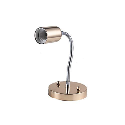 Lámparas de pared de Springhua Ajustable LED 5W lámpara de pared moderna Dormitorio cabecera cuerpo de la manguera de luz ligera de la pared de plata oro blanco de lectura Estudio del Libro Negro de H