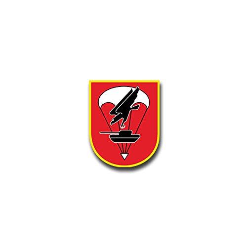 Copytec Aufkleber/Sticker - FschJgBtl 273 Fallschirmjäger Bataillon Iserlohn Luftlandebrigade Bundeswehr Wappen Abzeichen Emblem passend für VW Golf Audi A4 Mercedes Benz (7x6cm)#A1331