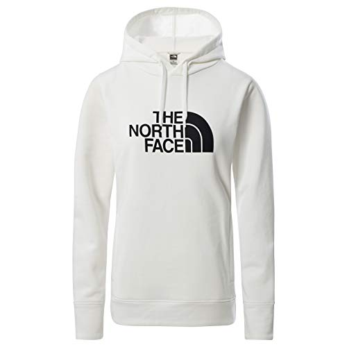 The North Face – Felpa con Cappuccio Half Dome da Donna - White, M