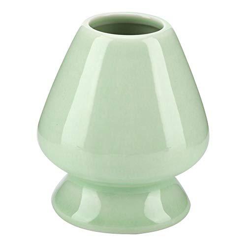 Fdit 1 soporte de cerámica para batidor de té Matcha Chasen, para juego de té, accesorios multiusos, embalaje socialme-eu(verde)