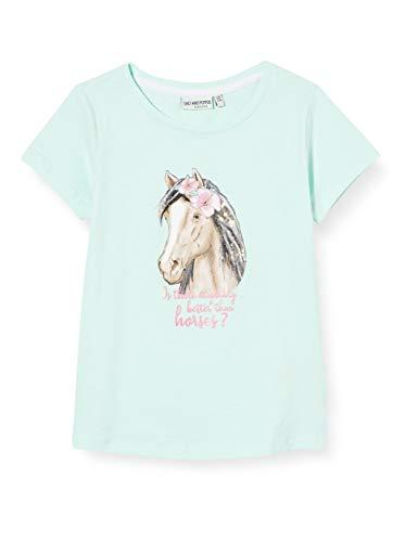 Salt & Pepper Mädchen 03112271 T-Shirt, Grün (Pastell Green 612), 116 (Herstellergröße: 116/122)
