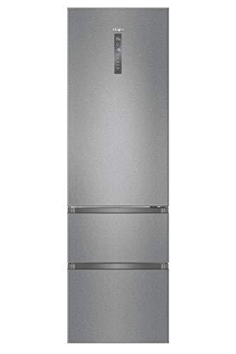 Haier A3FE837CMJ - Frigorífico combi con congelador de cajones, 2m de alto, ABT Antibacterias, Motor Inverter, Libre instalación, Inox, A+++